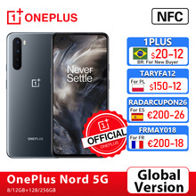 Versão global oneplus nord 5g oneplus loja oficial snapdragon 765g smartphone 8gb 128gb 6.44 quad 90 90hz amoled tela 48mp quad; code: 1PLUS($20-12:For Brazail new buyer), ae21tech29($199-29)tech199cymye($199-29)