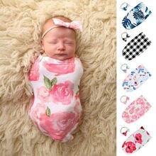 Blanket Sleeping-Bags Toddler Baby-Girls Bedding Newborn 2pcs Headband-Set Photo-Props