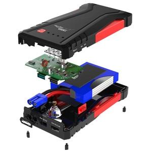 Image 5 - GKFLY, dispositivo de arranque de alta potencia 1500A, arrancador de batería de coche portátil de 12V, cargador de coche para coche, batería Booster Buster LED