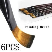 Ensemble de peinture professionnelle acrylique à l'huile, aquarelle, pinceaux de peinture d'artiste, pinceaux en laine de Nylon, 6