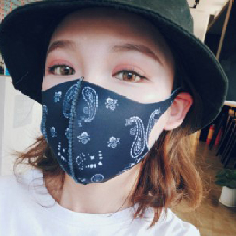 Fashion Black Mask Mouth Personalized Hip Hop Cotton Dust Face Dustproof Reusable Mouth Mask Print Mask Cartoon Mouth Mask New