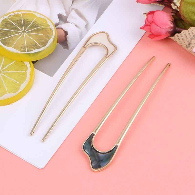 Pinces à cheveux Vintage pour femmes et filles, épingles à cheveux en alliage en métal en forme de U, Style japonais, couvre-chef, outil pour chignon