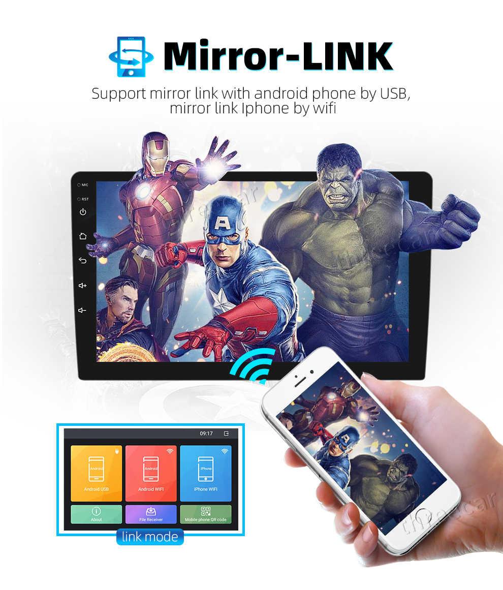 2 din android 2,5 D auto radio Android 8,1 universal Auto-Radio-Player GPS NAVIGATION WIFI Bluetooth MP5 Spieler Split bildschirm 1 + 16