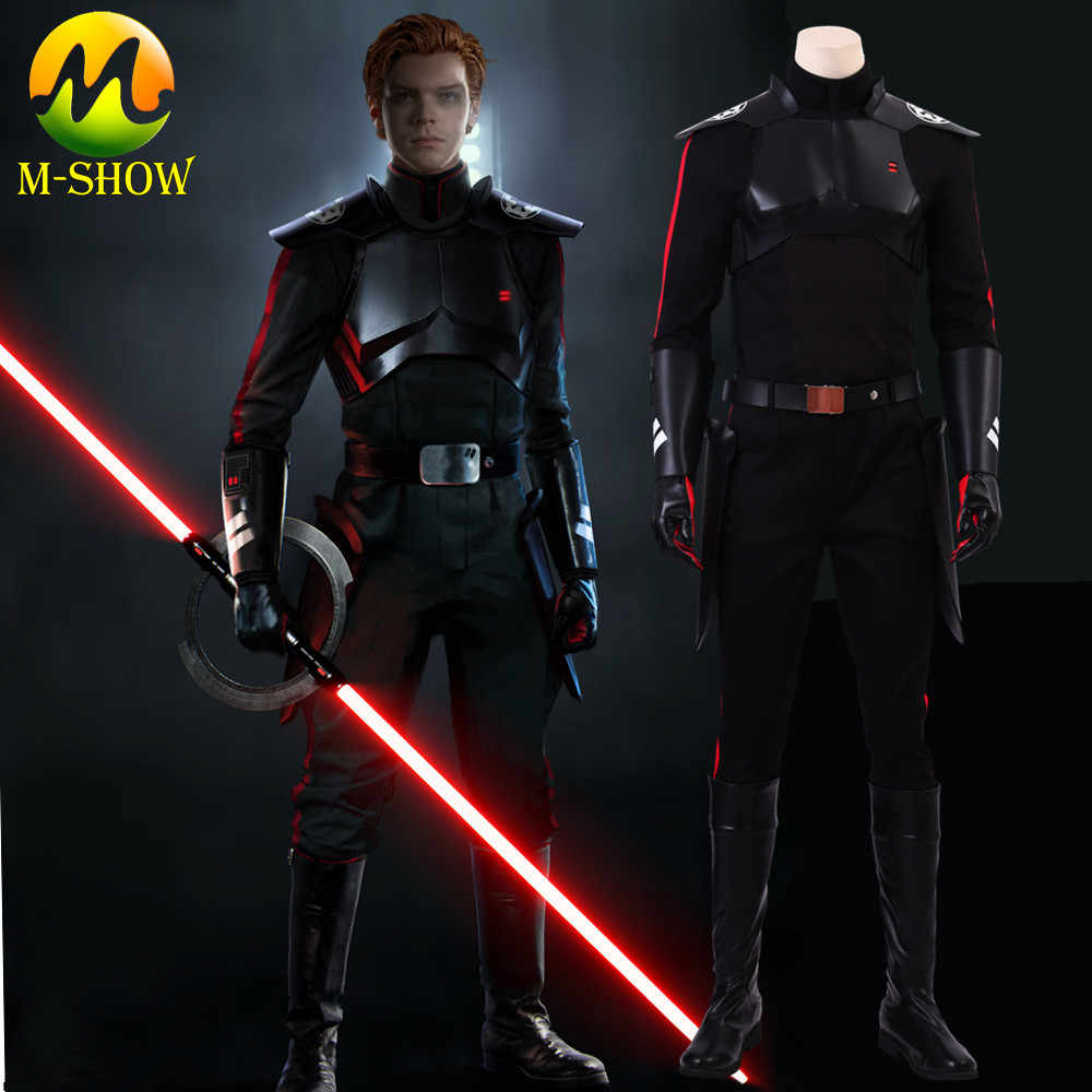 Star Wars JEDI: Fallen Order Inquisitor Cal Kestis Cosplay Costume Cal Dark Suit Halloween Costume For Adult Men Custom Made