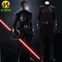Star Wars JEDI: Fallen Order Inquisitor Cal Kestis Cosplay Costume Cal Dark Suit Halloween Costume For Adult Men Custom Made(China)