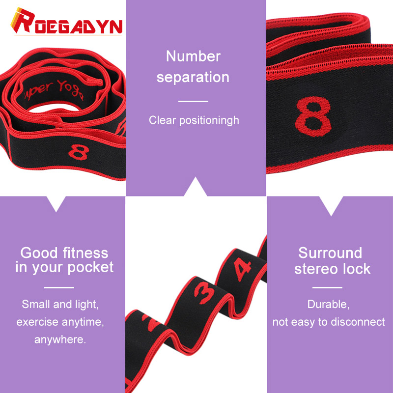 ROEGADYN Exercise Durable Fabric Resistance Bands Pull Up Super Elastic Bands For Fitness Yoga Resistance Bands