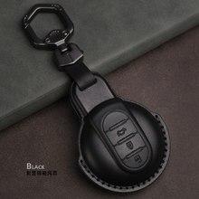 Leather Car Remote Key Case Fob Cover Skin Keychain For MINI Cooper Clubman Hardtop Hatchback Countryman F54 F55 F56 F57 F60