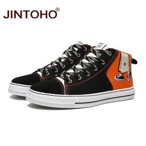 Image 3 - JINTOHO baskets unisexes à la mode, bottes en toile, chaussures unisexes à la mode pour hommes, hiver décontracté