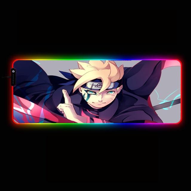 игровой коврик для мыши mairuige из аниме «наруто» rgb игровой фотография