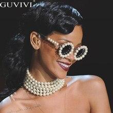 Perle Runde Sonnenbrille Frauen Kleine Rahmen Oval Vintage Sonnenbrille Luxury Brand Designer Männer Retro Sonnenbrille Steampunk