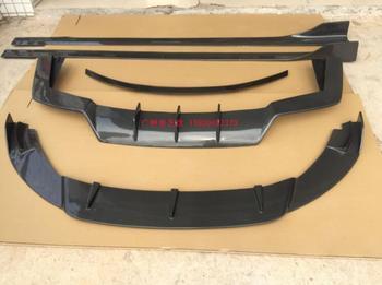 Carbon Fiber Car Spoiler Bumper Front Lip +Rear Bumper Diffuser Side skirts Protector For Maserati Quattroporte 2017-2020 1 pair carbon fiber car rear bumper lip diffuser splitters protection side extensions for bmw w204 e90 e92 for benz for audi a4