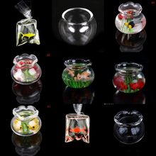 13 Styles 1/12 Lovely Dollhouse Miniature Glass Fish Tank Bowl Aquarium Doll House ornamenti per la casa giocattoli