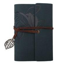 Дневник Блокнот Винтажный стиль кожа зеленый