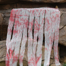 Blood Cloth Realistic Horror Prop Gauze Bar Kitchen Halloween Decorations Tableware Secret Room Outdoor Doorway Curtain DIY(China)