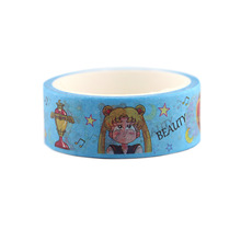 2pcs/lot Sailor Moon Cartoon Washi Tape Color Paper Adhesive Diary Hand Account Decorative Sticker Office AT2705