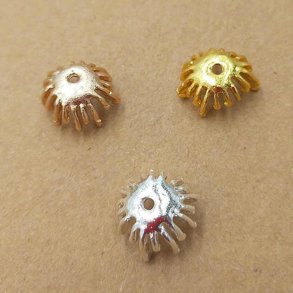 MINGXUAN 20pcs 13.5mm Filigree ดอกไม้ขั้วต่อฐานลูกปัด Charms Charms การตั้งค่าสำหรับเครื่องประดับทำส่วนประกอบ