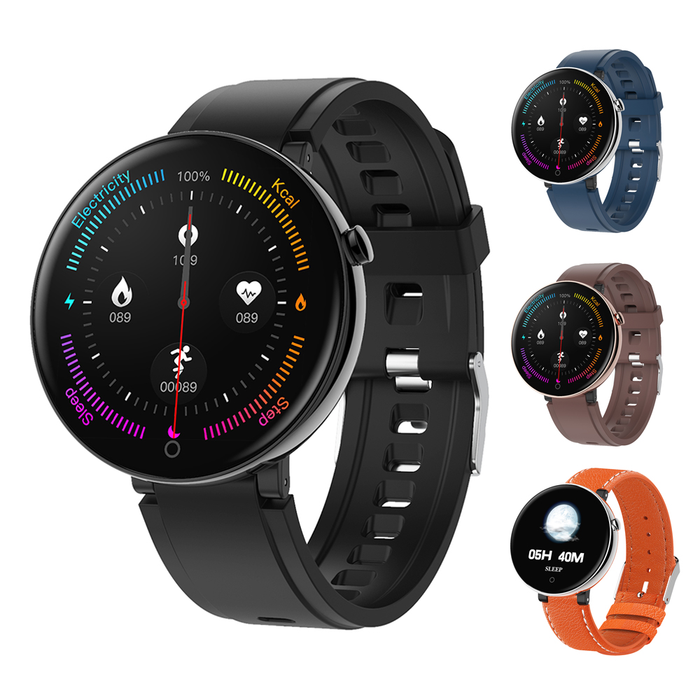 <font><b>DT</b></font> NO.1 DT18 Smart Watch Round Touch Screen Smartwatch Heart Rate Intelligent Fitness Tracker IP67 Sports Fashion Bracelet Men image