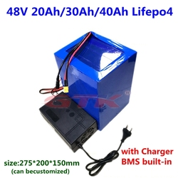 GTK 48V 20Ah 25Ah 30Ah 35Ah 40Ah Lifepo4 Lithium battery with BMS for golf cart ebike scooter bicycle snowbike+5A charger