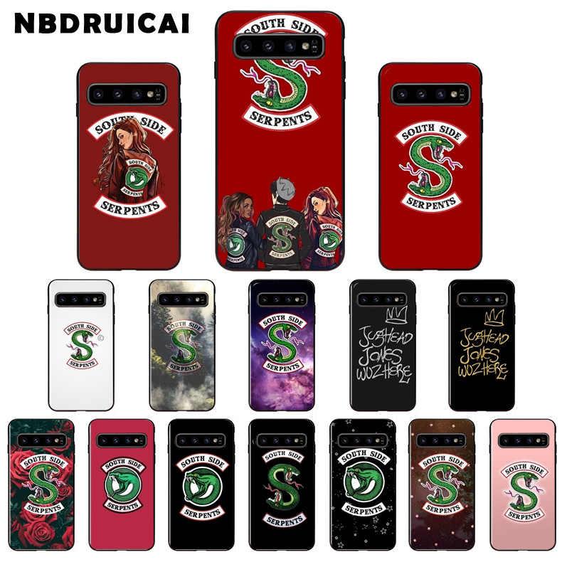 NBDRUICAI ריברדייל דרום צד נחש נחשים טלפון מקרה עבור סמסונג S9 בתוספת S5 S6 קצה בתוספת S7 קצה S8 בתוספת s10 E S10 בתוספת