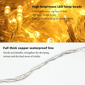 Image 4 - Christmas Garland LED Curtain Icicle String Lights 4.5m 100 Leds Indoor Drop Party Garden Street Outdoor Decorative Fairy Light