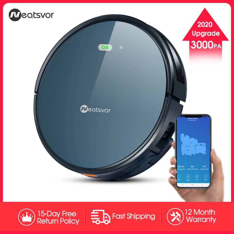 Closeout DealsNEATSVOR X500 Robot Vacuum Cleaner 3000PA Poweful Suction 3in1 pet hair home dry wet mopping cleaning robot Auto Charge vacuum