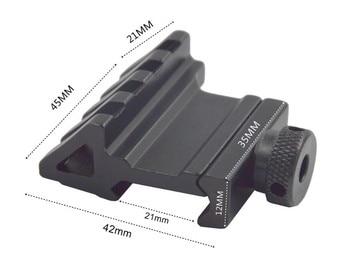 45 Degree Angle Tactical Scope Mount Aluminum 4 Slot Side Rail RTS Sight Rail Airsoft 45mm 20mm Picatinny Pistol Base Adapter