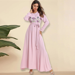 Abaya Dubai Dresses Abayas For Women Embroidered dress american clothing Muslim fashion kaftan Hijab Islam Clothing