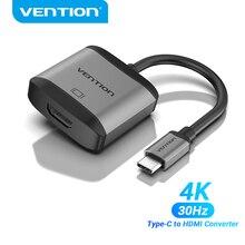 Wzmocnienie adaptera USB C na HDMI typ C kabel HDMI VGA 4K Thunderbolt 3 dla MacBook Huawei Mate 30 Pro konwerter USB typu C HDMI
