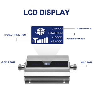 Image 2 - 3G WCDMA 2100MHZ UMTS amplificateur de Signal cellulaire affichage LCD téléphone portable portable Signal de charge utile répéteur de Communication Internet/