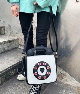 Image 5 - トレンディ電話デザイングラデーションカラーpu女性のショルダーバッグトートクロスボディのメッセンジャーバッグカジュアルハンドバッグボルサ財布フラップ
