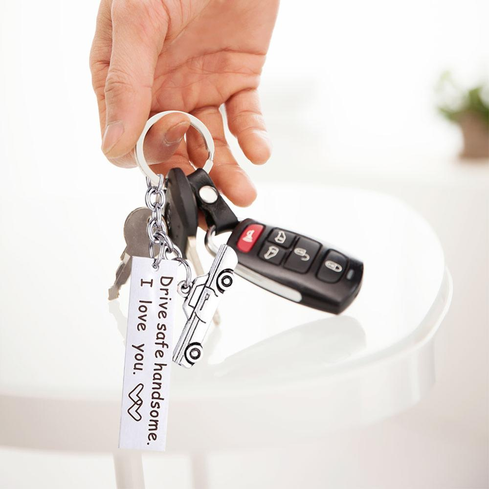Drive Safe Keychain I Need You Here With Me Gift  1