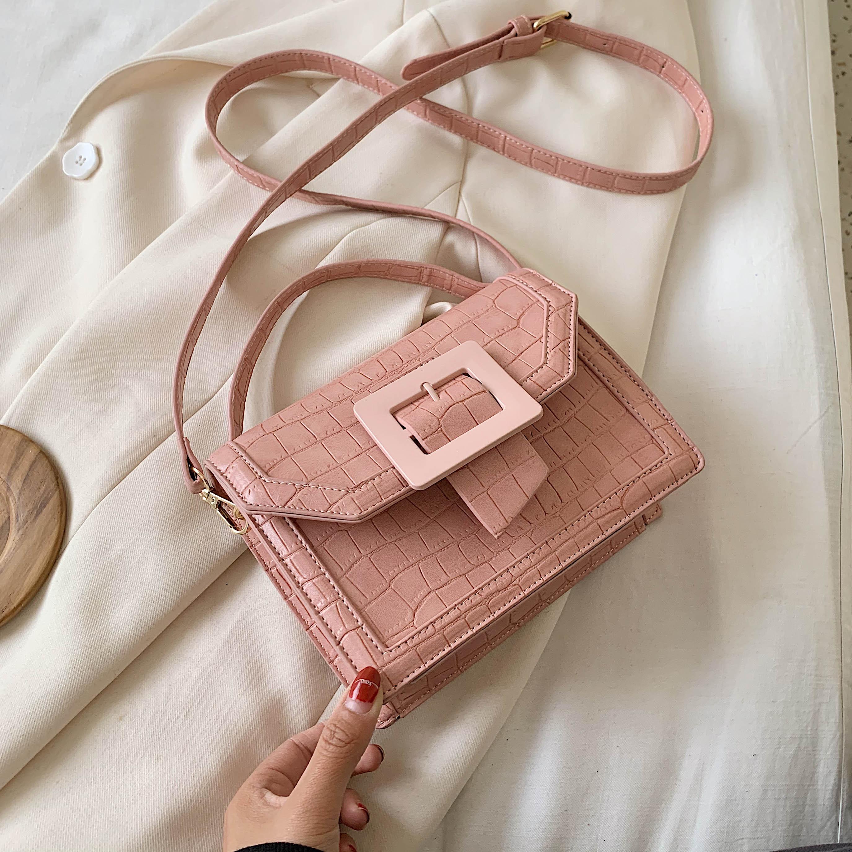 Stone Pattern PU Leather Flap Bag For Women 2020 Small Totes Female Crossbody Shoulder Handbag Lady Cute Travel Bag