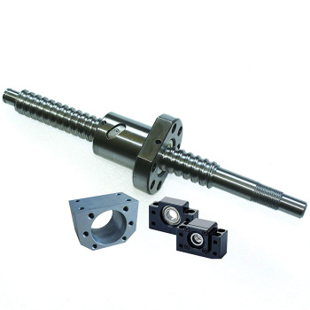 SFU1605 400mm Ballscrew Kit + Set BK/BF12 Kit + 1605 Ballscrew RM1605 L400mm Ball Screw with Ball Nuts + Screw Nut Housing
