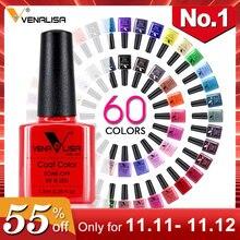 Гель лак для ногтей Venalisa 7,5 мл, 60 цветов, бесплатная доставка, Лидер продаж