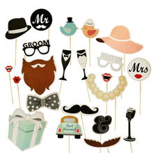Party Props Photo Booth Accessories Funny Lips Mustache Pipe Photo Booth Props Photocall Kits Birthday Wedding Party Decoration