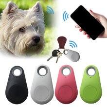 1pc zwierzęta inteligentne Mini urządzenie śledzące GPS Anti-Lost wodoodporna Bluetooth Tracer dla Pet Dog Cat Keys kopertówka dla dzieci Trackers Finder