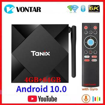 Vontar Android 10.0 TV Box Tanix TX6S Android 10 Allwinner H616 4GB RAM 64GB ROM QuadCore 6K Dual Wifi TX6 Media Player Youtube