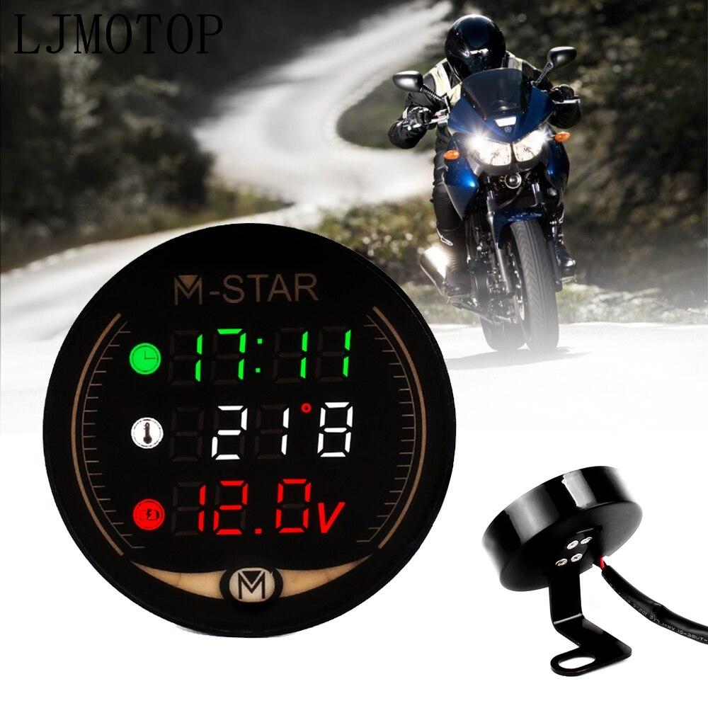 Visão noturna motocicleta medidor de tempo temperatura tensão tabela para honda modelo pcx 125/150