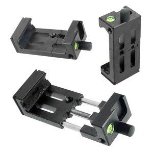 Image 2 - XJ 8 tripé do telefone suporte de cabeça montagem do tripé suporte do telefone móvel clipe para o telefone lanterna microfone com nível espírito