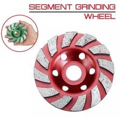 100mm/4 cal ściernica diamentowa Disc kształt miski szlifowania puchar kamienia betonu granitu narzędzia ceramiczne w Koła ścierne od Narzędzia na