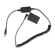 D tap ressort alimentation câble enroulé LP E12 remplacement adaptateur de batterie factice DR E12 coupleur cc Compatible avec Canon M M2 M10