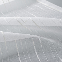White Tulle Curtains for Living room Striped Sheer Curtains for Kitchen Window Screening Customize Finished Drapes Voile Curtain цена и фото