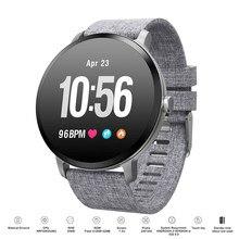 V11 Bluetooth 4.0 akıllı saat IP67 moda spor temperli cam aktivite spor izci nabız monitörü erkekler kadınlar Smartwatch