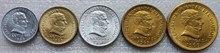 Uruguay 1965 20.50 Cents 1.5.10 Pesos Coin Full Set 5 Pieces Unc Real Original Coins Collection недорого