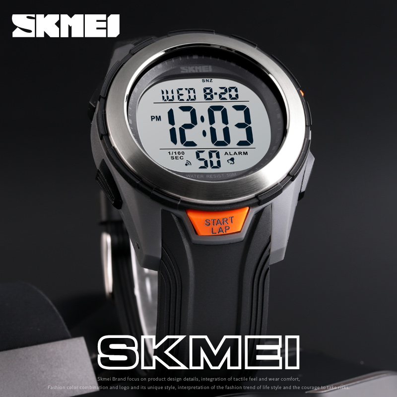 <font><b>SKMEI</b></font> Fashion Watch Men Multifunction Digit Watch Waterproof Alarm Clock Stainless Steel Case Watches Relogio Digital Wristwatch image