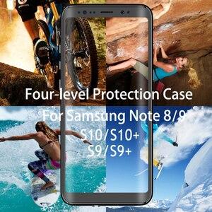 Image 2 - ل كوكه سامسونج S10Plus حالة S10 5G للماء حالة 360 حماية IP68 Note9 سامسونج غالاكسي ملاحظة 9 حالة A51 51 S9 زائد Etui S10e