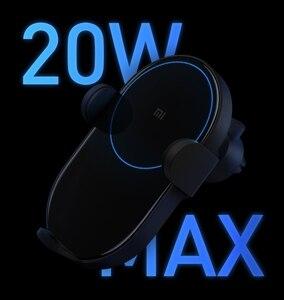 Image 4 - Беспроводное Автомобильное зарядное устройство Xiaomi Mijia, 20 Вт Max Qi электрическое автоматическое зажимное кольцо 2.5D со стеклянным кольцом для Mi 9 MIX 2S iPhone X XS MAX