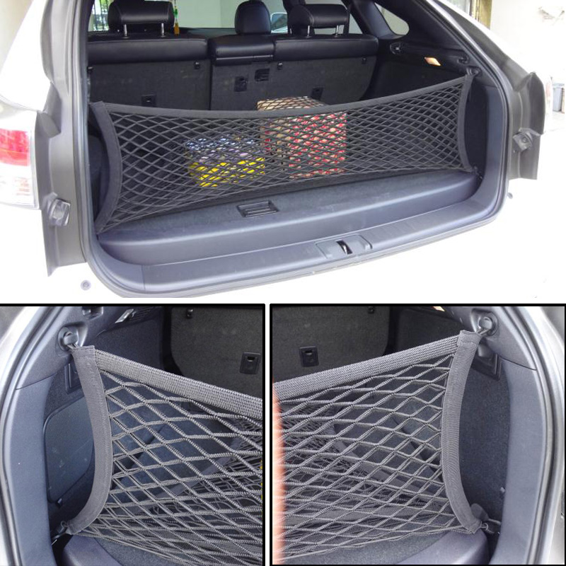 Fit For Kia Sportage Sorento Envelope Rear Trunk Cargo Net Hook Mesh Elastic Luggage Car Accessories 90*30cm|Stowing Tidying| |  - title=