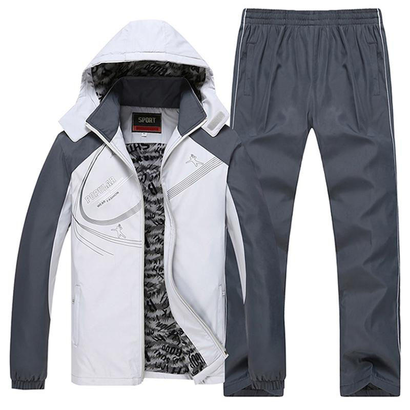 Size L~5XL 6XL Winter Jacket Men Sportsuit Sportwear Men Tracksuit Sweatshirt Hood Men Set Parka Coat Brand Clothing