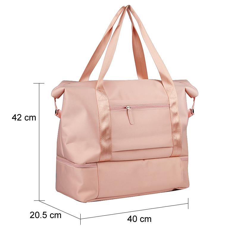 Women Luggage Travel Duffle Bag Large Travelling Casual Tote Handbags Glitter Waterproof Nylon Girls Organizer Travel Bags